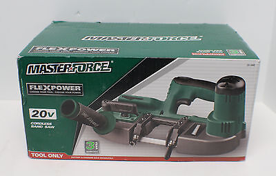 Masterforce FlexPower 20V Cordless Band Saw, Battery, Charger Combo - NEW