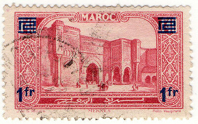 (I.B) French Morocco Postal : Pictorial 1Fr on 1.40Fr OP