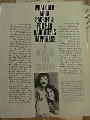 Cher, Three Page Vintage Clipping