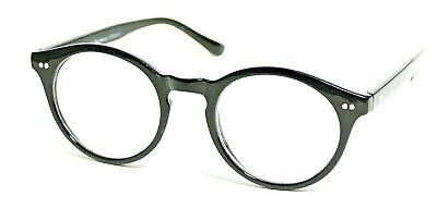 Clear Lens Glasses Oval BLACK KEYHOLE Bridge Frames Geek Nerd Retro Style #501