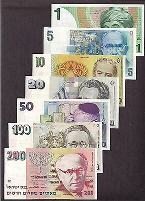 Israel 1986 To 1995 1 To 200 Nis Nice Condition 7 Notes - 3641