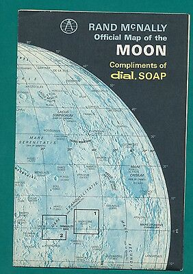 1969 Rand McNally DIAL SOAP  Official Map of the Moon
