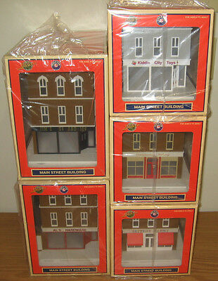 Lionel 5 City Buildings O Scale Train Accessory Lot Toy Store Bakery Hardware