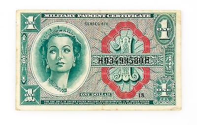 US MPC Series 611 One Dollar P-M54 vf