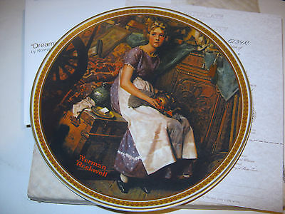 "The Bradford Exchange, Norman Rockwell ""Dreamiing In The Attic"" Ltd. plate (MSp)"