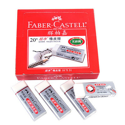 4pcs Faber-Castell Drawing Rubber Eraser Pencil Graphic Sketch Art 1871-51 Clean