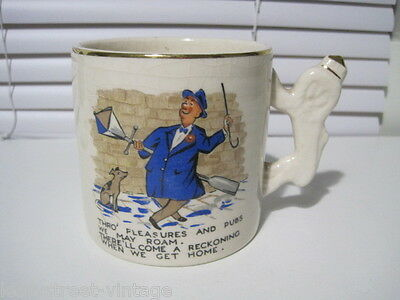 Novelty Commemorative Mug Cartoon Comedy British Empire Era