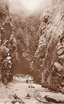 Jersey Waterfall Cave Vintage Real Photo Postcard