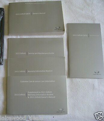 2015 INFINITI QX50 SUV OWNERS OWNER'S MANUAL SET w/CASE & QUICK REF (Q)