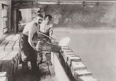 Lumpman Filling Tubs Skimmer Dogs Factory Cheshire Northwich Museum Postcard