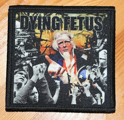 """DYING FETUS """"DESTROY THE OPPOSITION"""" silk screen PATCH"""
