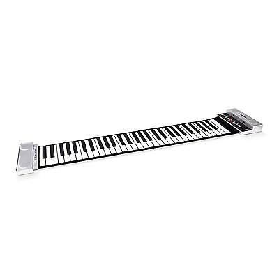 Piano Numerique Roll Up Argent Clavier 61 Touches Flexible Keyboard Pedale Neuf