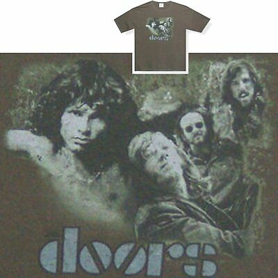 The Doors! Valley/band Photo Green T-Shirt Xl New