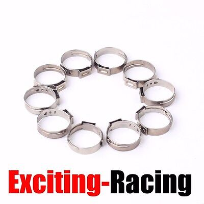 """50PCS  1/2"""" PEX Ear Clamp Cinch Rings Crimp Pinch Fitting ASTM Stainless Steel"""