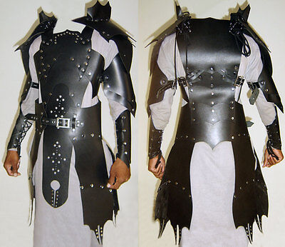 Real leather  medieval re-enactment theatrical  Armor LARP SCA viking