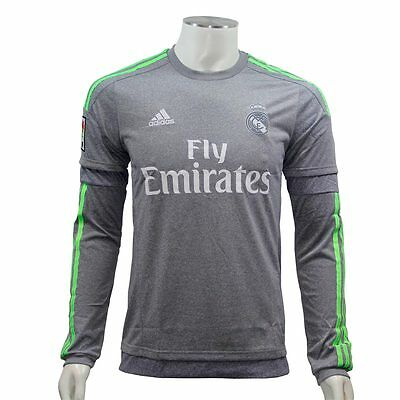 adidas Performance REAL MADRID AWAY JERSEY LS Maillot de Football Homme Gris