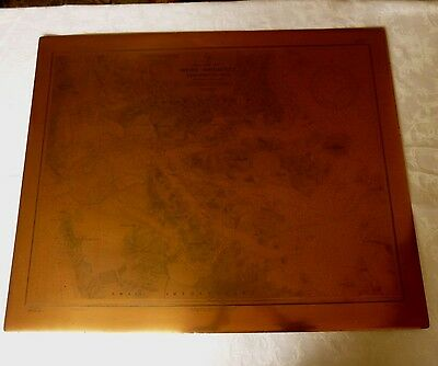Copper Map Printing Plate, Japan 1921 US Navy Navigation Kyushu West Coast