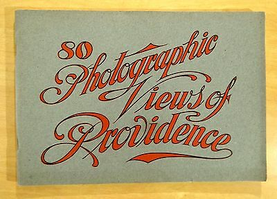 "80 Photographic Views of Providence Rhode Island Antique Souvenir Book 9.5""x 6.5"