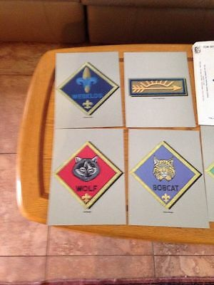 CUB SCOUT INSIGNIA POSTER SET, #4648, 5 heavy Cardboard posters 8-725-84B