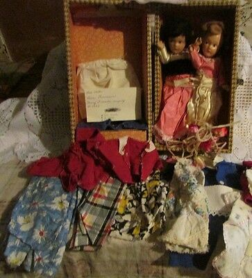 vintage dolls & accessories madame alexander doll? cass case clothes 1940's-50's