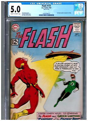 Flash #131 Cgc 5.0 Blue Universal Early Silver Age Green Lantern X-Over