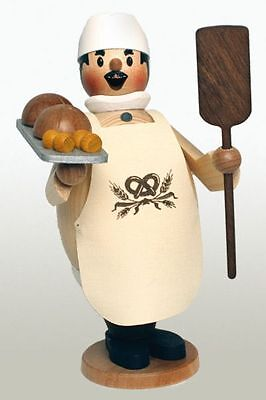 Happy Max the Bread Baker German Wooden Christmas Incense Smoker Made in Germany