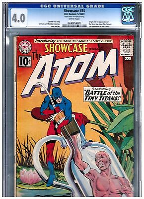 Showcase #34 CGC 4.0 BLUE FIRST SILVER AGE SA APPEARANCE OF THE ATOM