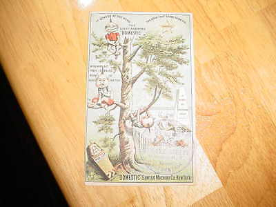 Victorian Trade Card - Brownies/gnomes - Domestic Sewing Machine