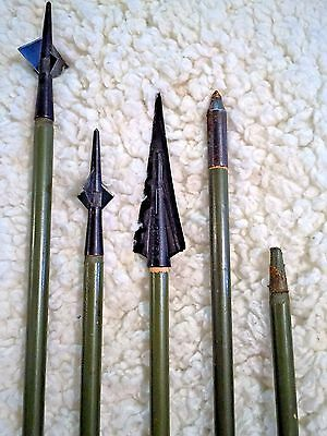 Martin Archery Arrow Lot (2 Spike, 1 Bowlo, 1 Field Point, 1 headless)