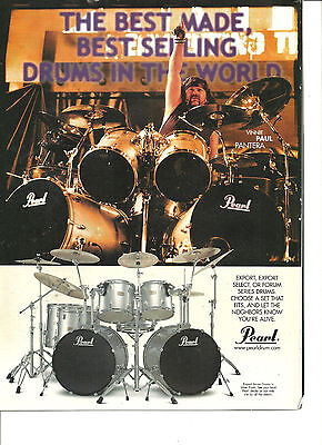 Pantera, Vinnie Brown, Pearl Drums, Full Page Promotional Ad