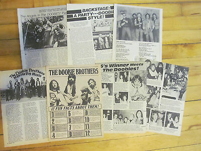 The Doobie Brothers, Michael McDonald, Lot of SIX Vintage Clippings