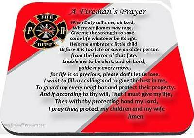 a fireman's prayer maltese cross red and white mouse pad