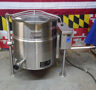 Cleveland KEL-40T 460V Electric Auto Tilting Steam Jacketed Kettle