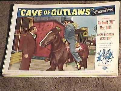 Cave Of Outlaws 1951 Lobby Card #3 Western