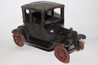 Arcade, Cast Iron 1923 Ford Model T Turtle Back Coupe, Largest Size