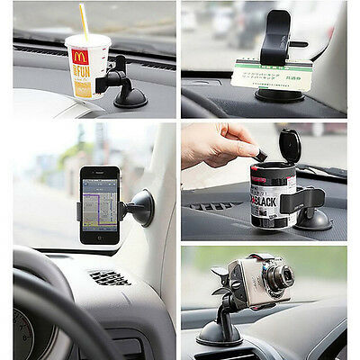 Universal 360°Rotating Car Windshield Mount Holder Stand For Mobile Phone GPS TE