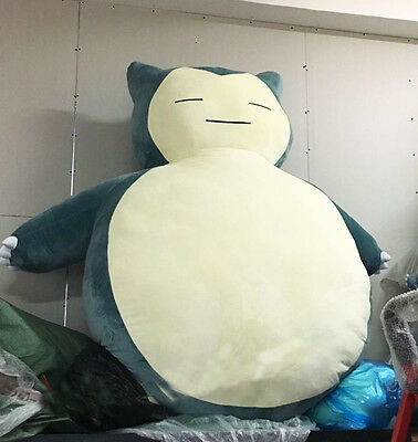 "79""/ 2M & 59""/1.5M Pokemon Snorlax Plush Kabigon Doll Filled Bed Cover Only Gift"
