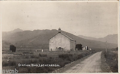 Postcard Lochcarron in Highland Scotland early view of Station Road RP