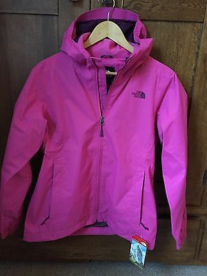 Bnwt The North Face Womens Waterproof Hiking Coat Jacket Raspberry Rose Size L