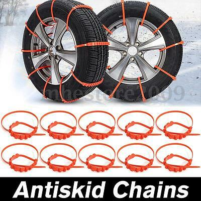 10Pcs Car Truck Anti-skid Chains Nylon For Snow Mud Wheel Tyre Tire Ties Cable