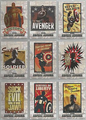 """Captain America Movie - """"Poster Series"""" Set of 12 Chase Cards #P1-12"""