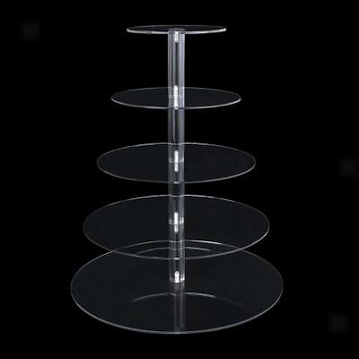 3-5 Tier Clear Acrylic Cupcake Stand Birthday Wedding Party Cake Display