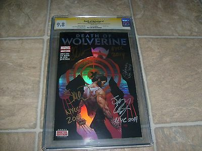 Death Of Wolverine #1 Cgc-Ss 9.8 Signed 4X Soule Mcniven Leisten & Ponsor 2014