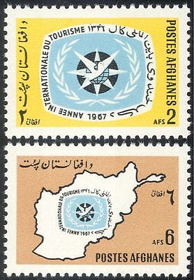 Afghanistan 1967 International Tourist Year/Tourism/Map/Emblem 2v set (n29379)