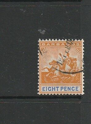 Barbados 1905 MCCA 8d Used SG 142, see note