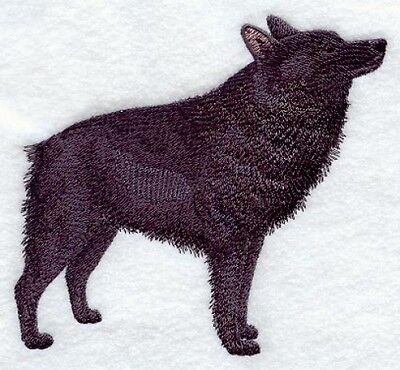 Large Embroidered Zippered Tote - Schipperke C9641