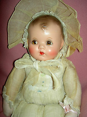 1940 vintage, IDEAL signed composition, christening baby doll, all original XLNT