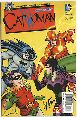 Ty Templeton SIGNED Catwoman #38 Flash 75th Anniversary Variant Cover Art Batman