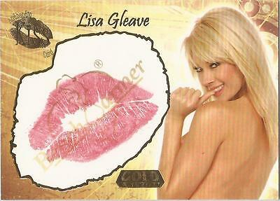 """Benchwarmer 2007 Gold Edition - 1A of 24 """"Lisa Gleave"""" Kiss Card"""
