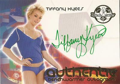 """Benchwarmer 2006 World Cup -  #15 of 30 Tiffany Kyees"""" Auto / Autograph Card"""
